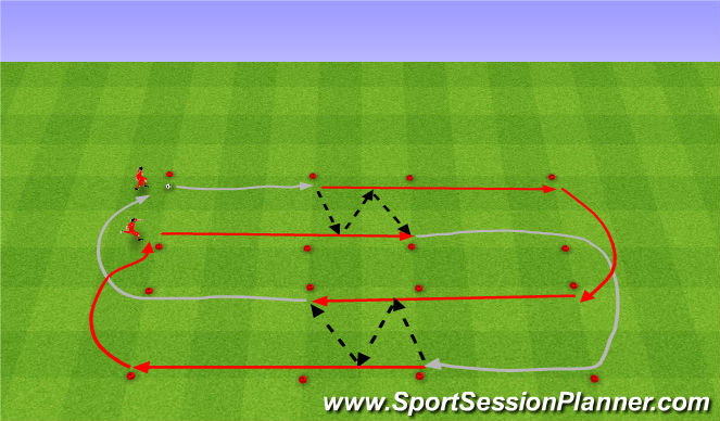 Football/Soccer Session Plan Drill (Colour): Rozgrzewka.