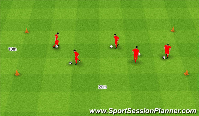 Football/Soccer Session Plan Drill (Colour): Berek.