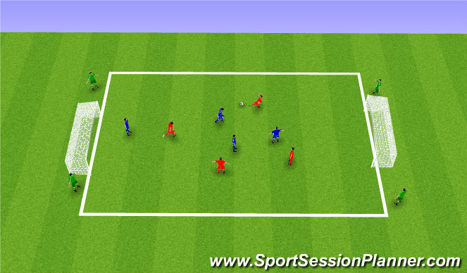 Football/Soccer Session Plan Drill (Colour): SSG - Valencia