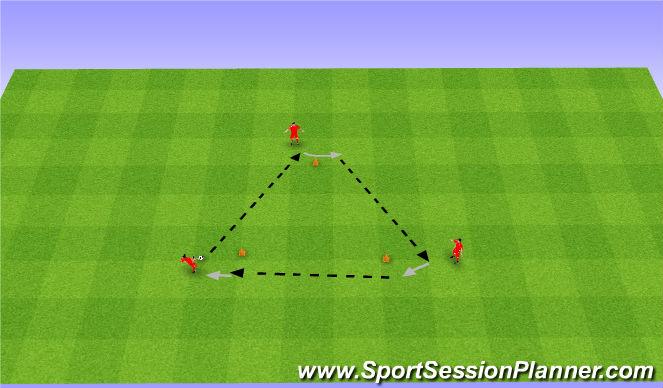 Football/Soccer Session Plan Drill (Colour): Podania i przyjęcia.