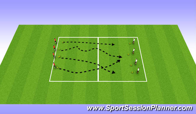 Football/Soccer Session Plan Drill (Colour): Ball War