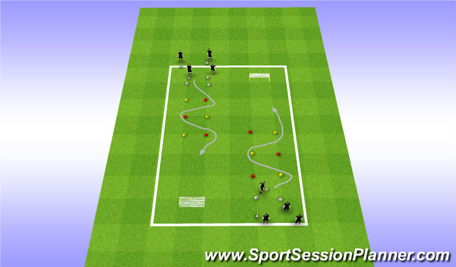 Football/Soccer Session Plan Drill (Colour): Drill - Slalom