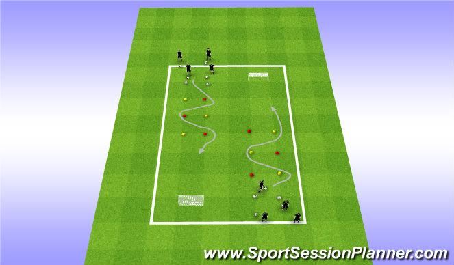 Football/Soccer Session Plan Drill (Colour): Drill - Slalom