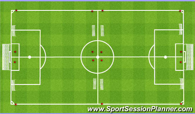 Football/Soccer Session Plan Drill (Colour): Games Set Up
