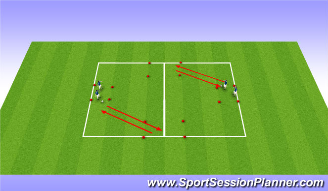 Football/Soccer Session Plan Drill (Colour): Dribbling skills