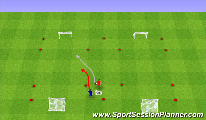 Football/Soccer Session Plan Drill (Colour): Odbiór piłki od tyłu.