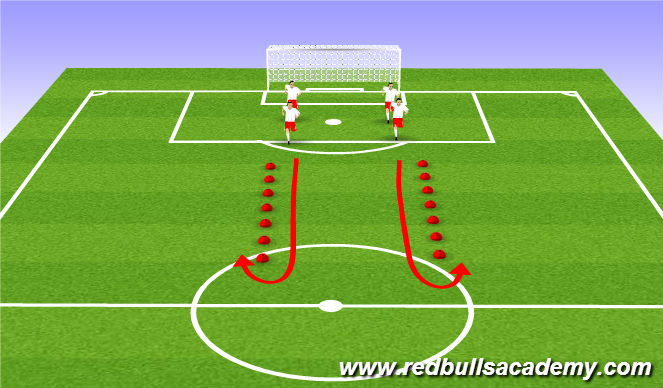 Football/Soccer Session Plan Drill (Colour): Warmup - Fifa 11+