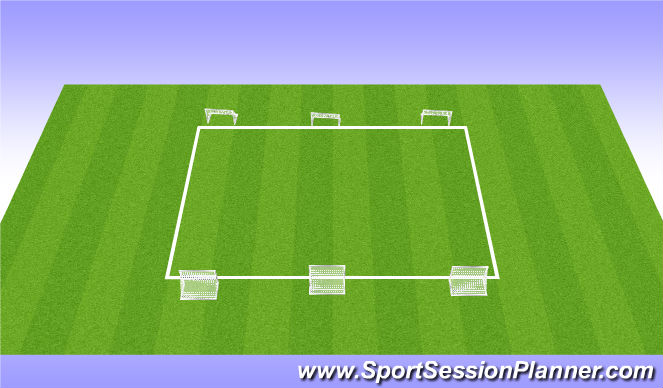 Football/Soccer Session Plan Drill (Colour): WU - 1v1, 2v2s