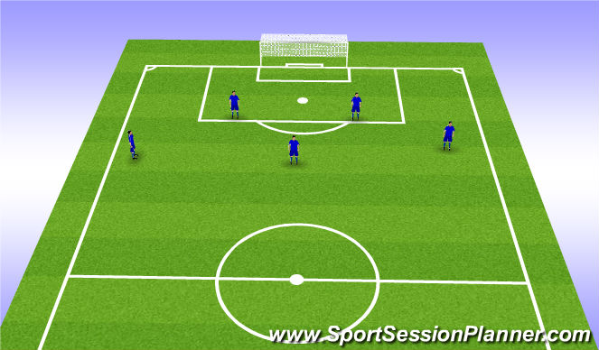 Football/Soccer Session Plan Drill (Colour): Back 5 Choreography