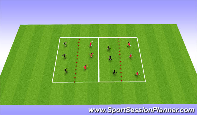 Football/Soccer Session Plan Drill (Colour): Blocking passes