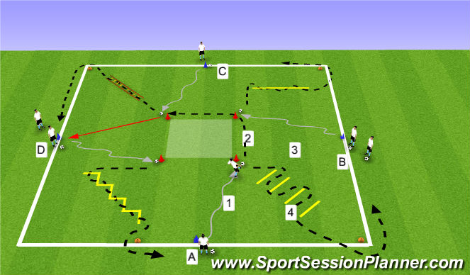 Football/Soccer Session Plan Drill (Colour): EX1