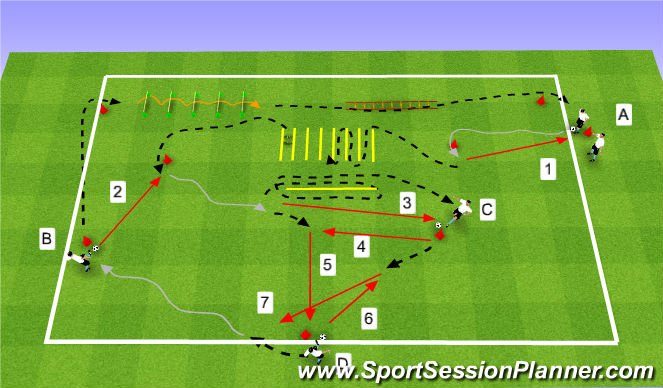Football/Soccer Session Plan Drill (Colour): EX3