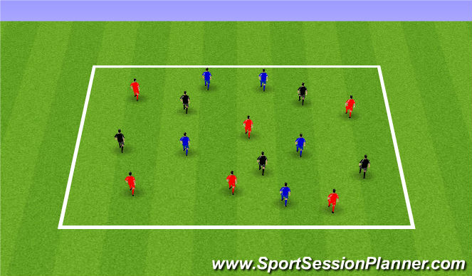 Football/Soccer Session Plan Drill (Colour): Dribble in the square
