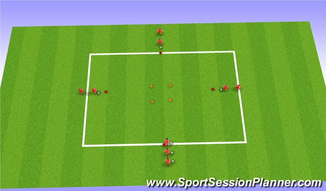 Football/Soccer Session Plan Drill (Colour): Technical (Fakes)