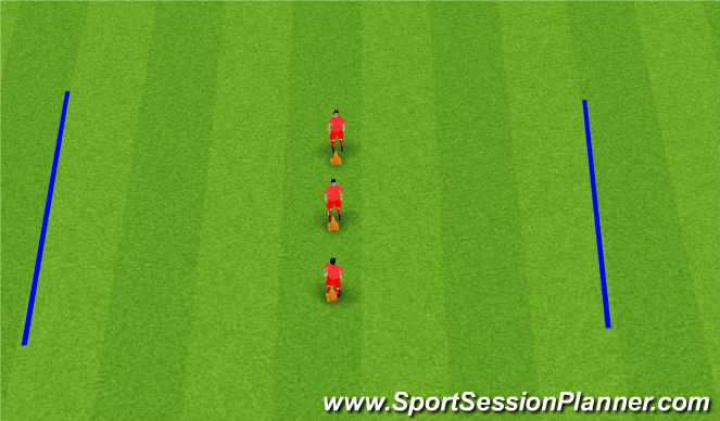 Football/Soccer Session Plan Drill (Colour): Lateral Movement Training