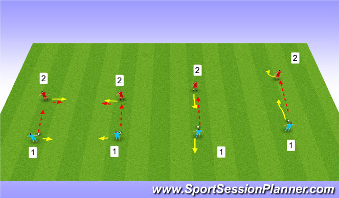 Football/Soccer Session Plan Drill (Colour): Awareness:Head up and pass