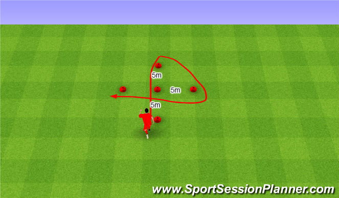 Football/Soccer Session Plan Drill (Colour): Arrowhead. Strzała.