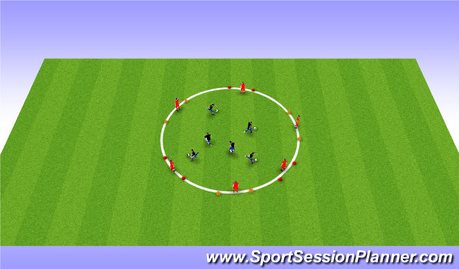 Football/Soccer Session Plan Drill (Colour): Breakout