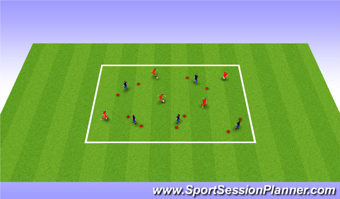Football/Soccer Session Plan Drill (Colour): Individual Attack