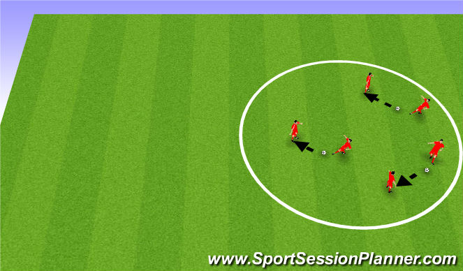 Football/Soccer Session Plan Drill (Colour): 3 Pass N Go