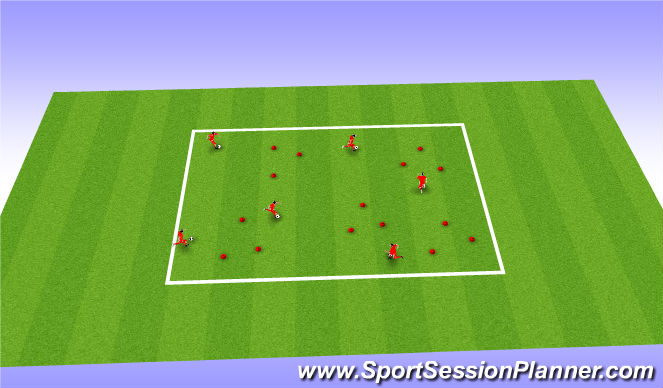 Football/Soccer Session Plan Drill (Colour): Triangle Challenge