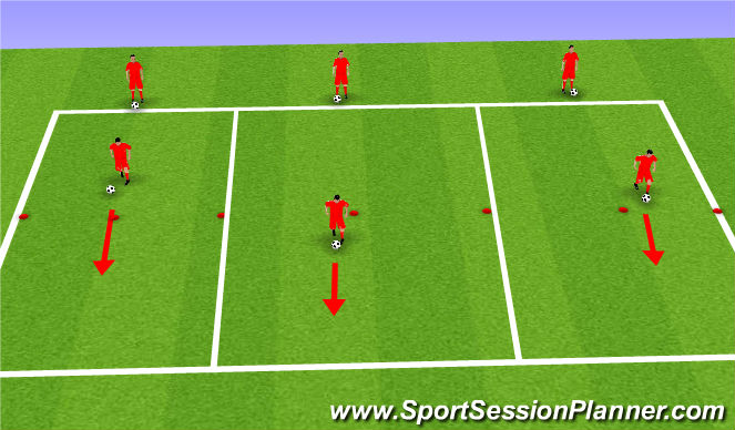Football/Soccer Session Plan Drill (Colour): Technical Block