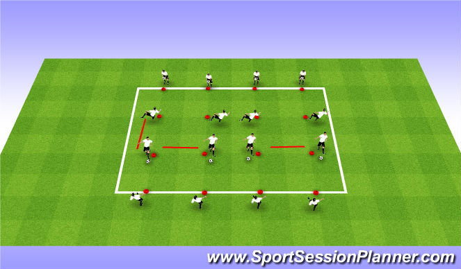 Football/Soccer Session Plan Drill (Colour): Coerver