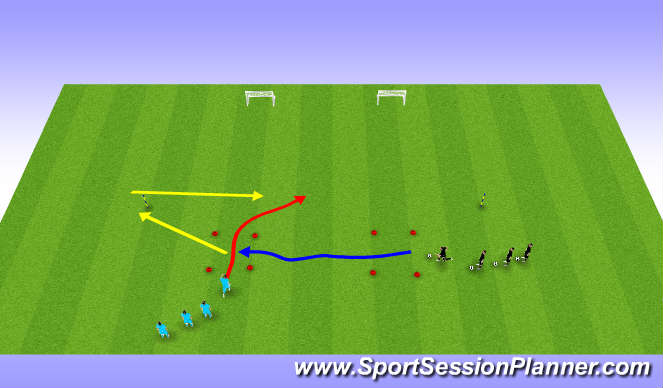 Football/Soccer Session Plan Drill (Colour): one vs one