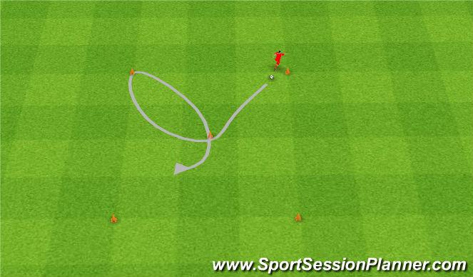 Football/Soccer Session Plan Drill (Colour): Żonglerka.