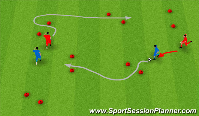 Football/Soccer Session Plan Drill (Colour): Level 2