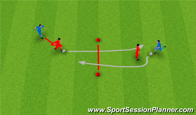 Football/Soccer Session Plan Drill (Colour): Level 4