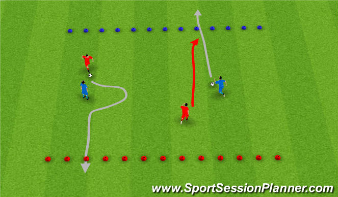 Football/Soccer Session Plan Drill (Colour): Level 5