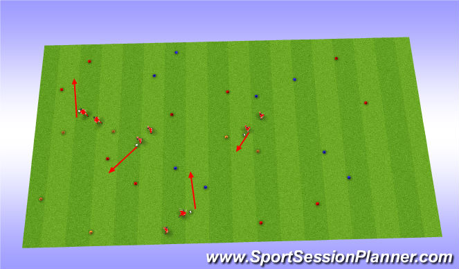 Football/Soccer Session Plan Drill (Colour): Dribbling Drill - Component 1