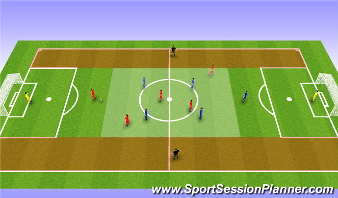 Football/Soccer Session Plan Drill (Colour): Breakout Game 4+2v4