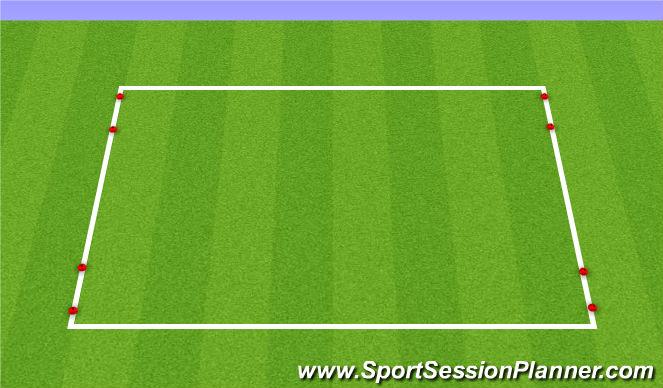 Football/Soccer Session Plan Drill (Colour): 1v1 and 2v2 Game