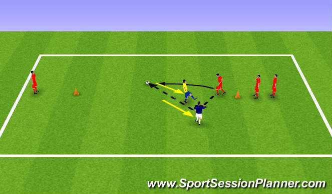 Football/Soccer Session Plan Drill (Colour): Warm  up game 1.1