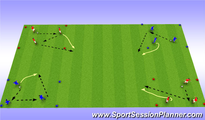Football/Soccer Session Plan Drill (Colour): Runs without the ball