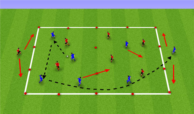 Football/Soccer Session Plan Drill (Colour): Crossing and Finishing Small Sided Game