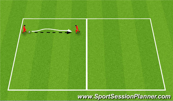 Football/Soccer Session Plan Drill (Colour): Press
