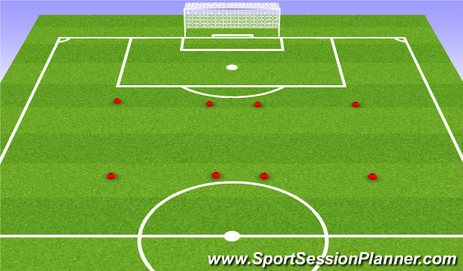 Football/Soccer Session Plan Drill (Colour): Support Exercise Progression