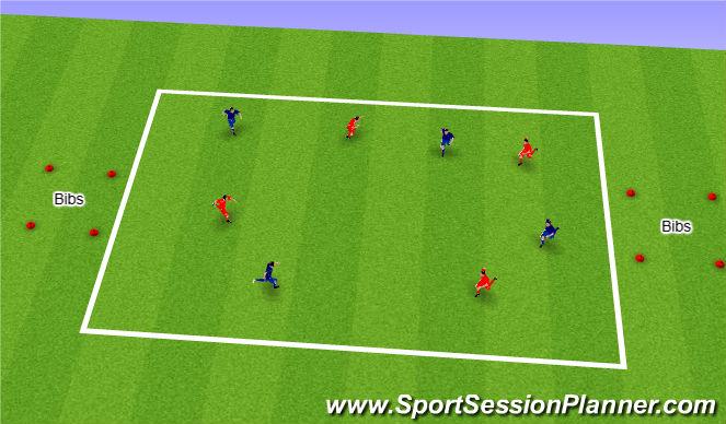 Football/Soccer Session Plan Drill (Colour): Bib Snatch