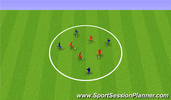 Football/Soccer Session Plan Drill (Colour): Fundamental Movement Ball Game