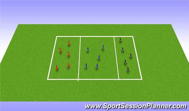 Football/Soccer Session Plan Drill (Colour): possesion drill