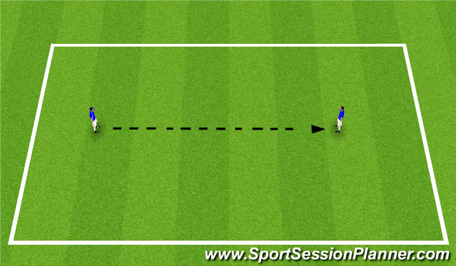 Football/Soccer Session Plan Drill (Colour): Passing & Receiving Techniques