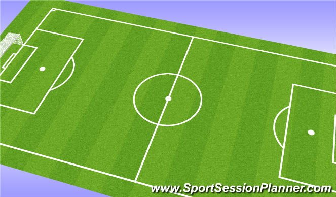 Football/Soccer Session Plan Drill (Colour): warm up with skills