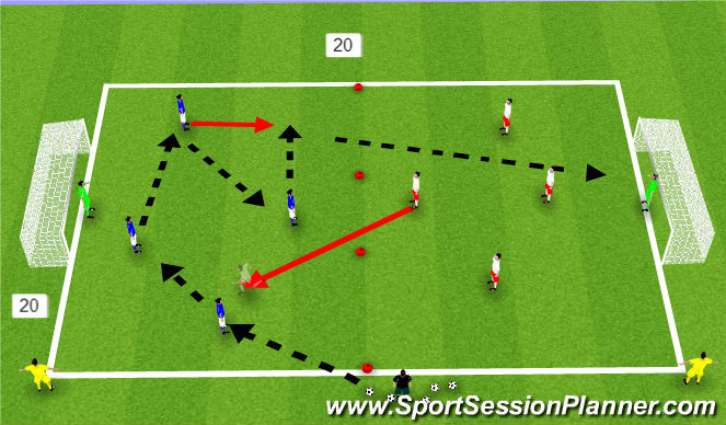 Football/Soccer Session Plan Drill (Colour): King Louis Shooting