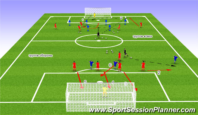 Football/Soccer Session Plan Drill (Colour): гр.такт.