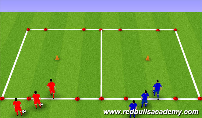 Football/Soccer Session Plan Drill (Colour): Inside/Outside twist
