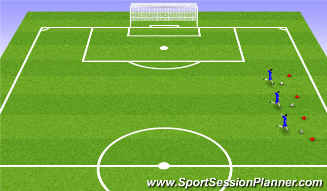 Football/Soccer Session Plan Drill (Colour): non dominant foot
