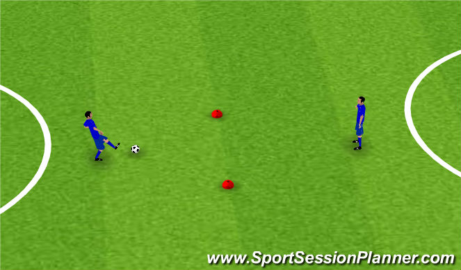 Football/Soccer Session Plan Drill (Colour): Pong